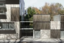 exposed concrete facades