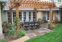 Backyard eating area