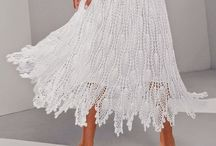 white crochet skirt