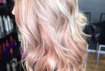 Rose gold balayage blondes