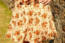 Handmade High Waist Midi Skirt With Floral Details