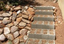 Home and garden / using blocks for steps