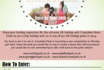 Pin To Win - Coastdale Parks / Share your holiday inspiration for the ultimate UK holiday with Coastdale Parks. Enter to win a free holiday with us in any of our UK holiday parks. You have to pin it to win it, Coastdale Parks has launched a new competition, choose the park you would like to stay in create a board then add local places you would like to visit remembering to add a link back to the parks website: whitbypark.co.uk - pakefieldpark.co.uk - garreggochpark.co.uk - atlanticcoastpark.co.uk #pintowin