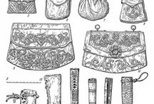10th to 12th century accessories: purses, bags, belts, jewels, brooches, buckles (900-1200 ca.)
