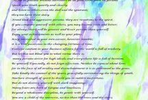 Desiderata Poem on Art / Desiderata Poem on various art images. More art images at barbara-griffin.artistwebsites.com