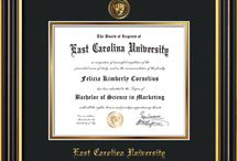 ECU - East Carolina University Diploma frames & Graduation Gifts / Official ECU Diploma frames. Exquisitely crafted to exacting specifications for the ECU diploma. Custom framed using hardwood mouldings and all archival materials, including UV glass to prevent fading from sunlight AND indoor incandescent lighting! Each frame exceeds Library of Congress standards for document preservation and includes a 100% lifetime guarantee, ensuring that a hard-earned achievement will be honored and protected for generations. Makes a thoughtful and unique graduation gift!