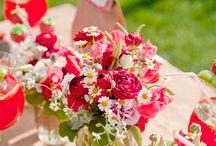 Inspirations mariage / Rouge et blanc / Le rouge, la couleur de la passion! A utiliser avec parcimonie sinon gare à l'effet too much!