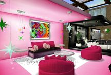 Pink Livingrooms Of My Dreams / by Pink Chick Psychic Linda Kaye