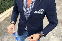 Men's jeans, jacket and shirt