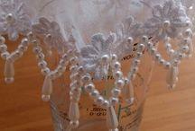 Cobre jarras e copos