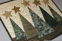 Pachtwork juletræer