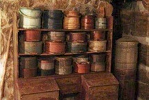 Firkins and pantry boxes / by Kathy Detwiler Harris