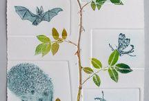 Nature printing techniques