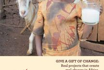 Holiday Gifts that make a difference - Gifts of Change Catalogue / When planning your holiday shopping, honouring someone on their birthday or any celebration give a gift that will change lives in rural Africa.   Visit www.giftsofchange