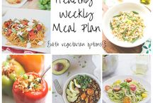 Healthy Weekly Meal Plans! / Healthy weekly dinner plan with printable shopping list