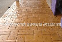 Beton imprime motif California / #betonimprime #motifcalifornia #empreinte california #beton #france http://www.betonimprimejulien.fr/California.html