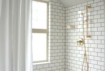 inspirations for current bathroom and en suite projects / plush, slick, modern blended trad