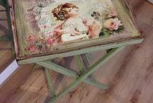 Decoupage møbler