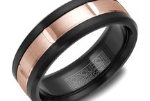 Cobalt Gold Wedding Rings / Proudly made in Canada, cobalt rings have tremendous strength and are virtually shatterproof. The mirror like polish is extremely wear resistant due to cobalt's rare combination of attributes.