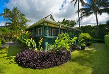 KA EHU KAI - HANALEI, KAUAI / Ka Ehu Kai is a magnificent beachfront villa located in Hanalei, on Kauai. This unique and stylish home is enveloped in lush green surroundings and breathtaking ocean and mountain views! Providing 2 bedrooms and a private loft, Ka Ehu Kai can comfortably accommodate up to 6 guests. Throughout this home, enjoy smooth hardwood flooring, bright and airy rooms, and open-beamed ceilings crafted with Hawaiian lauhala mat weave. Guests will love the luxurious details this home provides!