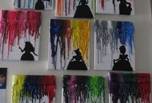 Melted Crayon Disney Art Project