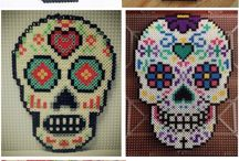 Hama Crane perler beads