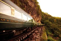 Luxury Train Trips / Luxury train journeys do more than get you from point A to point B in in comfort and style. They transport travelers to a bygone era of travel, beckoning them to slow down and take in the world. See the world by rail with Ker & Downey's top luxury train journeys. All aboard!