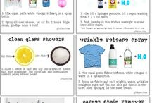Cleaning hacks / DIY cleaning products  / by Veronica Rosencrants