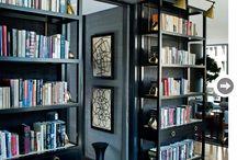 Shelves family room