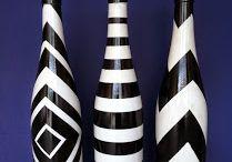 glazen fles versieren