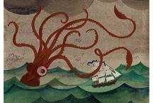 Strigiformes & Cephalopods / Owls, squid & octopus.