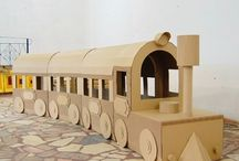 kids crafts - train