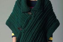 Shawl with knitting