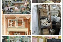 Home Decor Storefront / A compilation of creative displays for vendor booths, shop displays, and merchandising ideas for your wares!