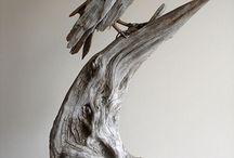 driftwood art pins