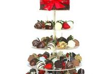 CHOCOLATE STRAWBERRY TOWERS / Chocolate dipped strawberry towers created for you. A stunning and delicious addition to special occasions, weddings and events. Shop our strawberry towers and cakes http://www.wickedberries.com.au/category/wicked-cakes/