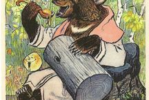 Russian and folk illustrations