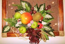 Панно из фруктов