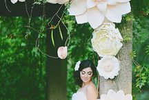 arboles decorados con flores