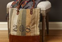 Canvas, linen type fabric bags