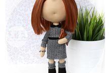 Portrait dolls / Handmade textile portrait dolls