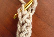 crochet/knitted jewelery