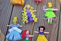 Disney characters made from ribbon