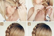 hair style and eye makeup