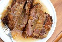 Beef, Bacon, Pork
