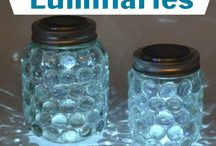 Glass jars lights