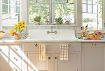 home: kitchens & baths  / clean lines with a vintage feel  / by Andrea W.