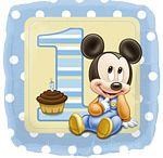 1st Birthday: Mickey Mouse Baby Party Supplies / A range of Mickey Mouse 1st Baby tableware and decorations which include napkins, plates, tablecover, cups, disposable cutlery, Party Balloons, Platters, great for a nautical themed party or 1st Birthday. Add this Mickey Mouse 1st Baby partyware to any coloured party supplies and create the perfect theme.