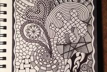Zentangle & Colouring