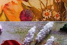 ПУШИСТЫЕ цветы вышивка
